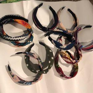 Ten knotted headbands